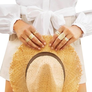 Anna Beck Gold Beaded Ring