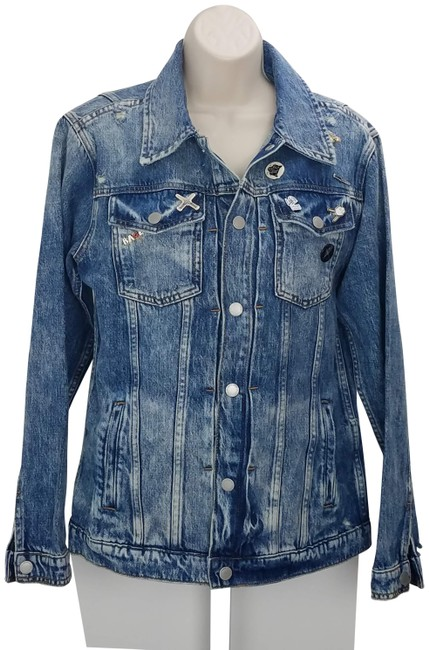Item - Blue Jean Pins Distressed S Jacket Size 4 (S)