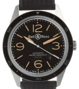 Bell & Ross Bell & Ross Vintage Sports Heritage Mens Watch BR123-93 Stainless Steel Black Dial