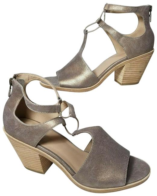 Item - Metallic Lou Suede Heel Back Zip Sandals Size US 9 Regular (M, B)