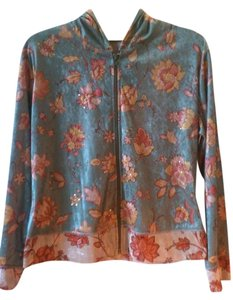 Cubism Asian Unusual Embellished Spring Green, Orange, Gold Jacket