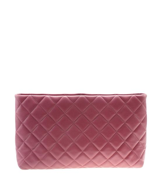 Item - Quilted (179798) Pink Leather Clutch