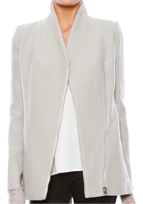 Item - Grey Curly Wool Blend Jacket Size 2 (XS)