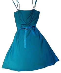 Ann Taylor short dress Teal on Tradesy