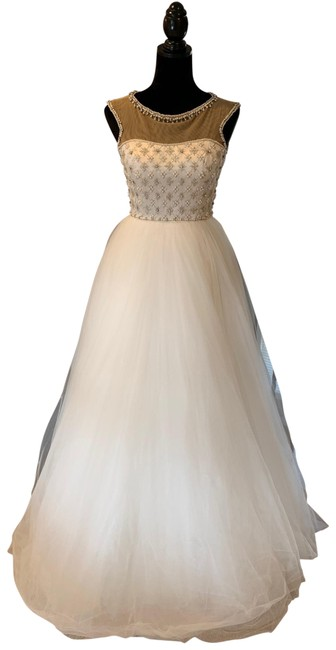 Sherri Hill White Long Formal Dress