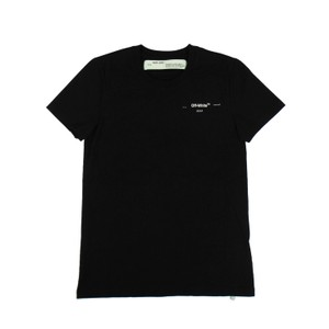 Off-White™ Logo Casual Sleeves Imported Cotton T Shirt Black