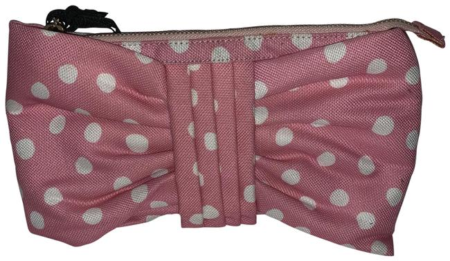 Item - Dot Bow Pink/White Canvas Clutch