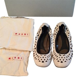 Marni Cream/ Ivory/ Off White Flats