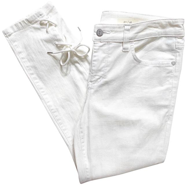Item - White Light Wash Pilcro & The Letterpress Crop Skinny Jeans Size 6 (S, 28)