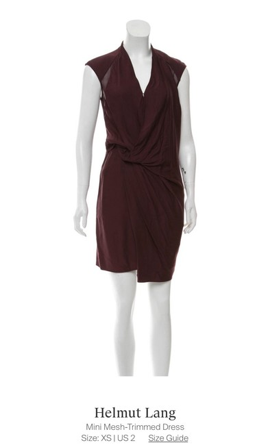 Item - Maroon Dd0515 Short Cocktail Dress Size 2 (XS)