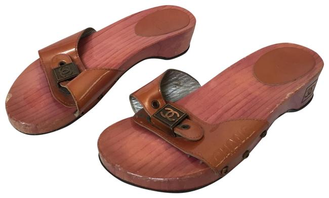 Item - Orange Wood Mules/Slides Size EU 36 (Approx. US 6) Regular (M, B)