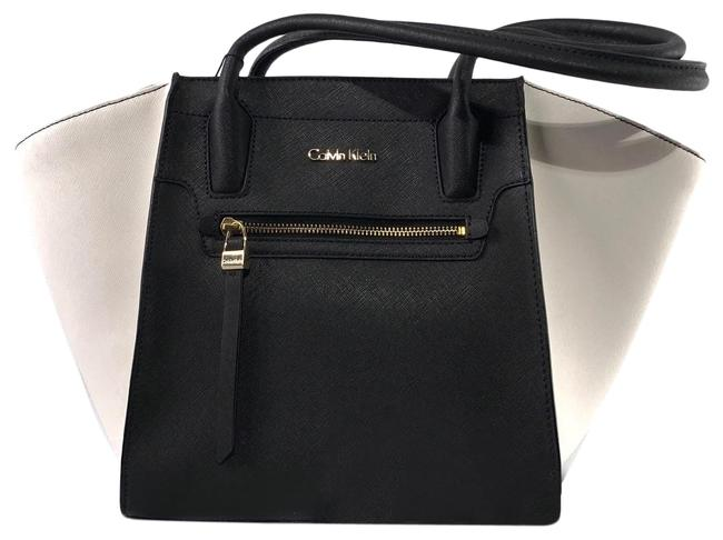 Item - Carryall Black / White Leather Tote