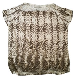 Knit by Hampshire Studio Top White,Black&Gray