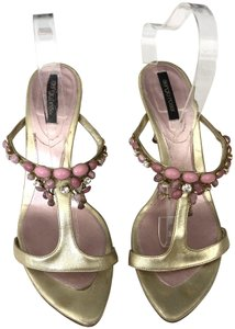 Sergio Rossi Gold & Pink Sandals