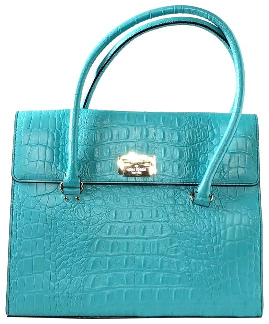 Item - Orchard Valley Sinclair Turquoise Leather Shoulder Bag