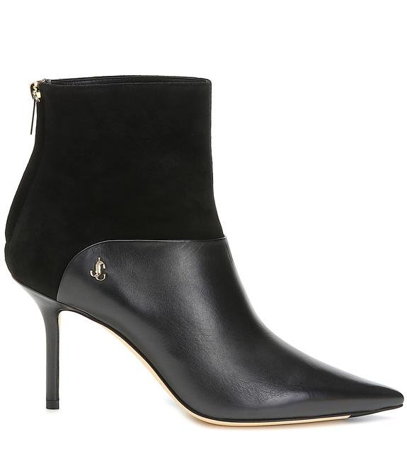 Item - Black Beyla Suede-paneled Leather Ankle Boots/Booties Size EU 37.5 (Approx. US 7.5) Regular (M, B)
