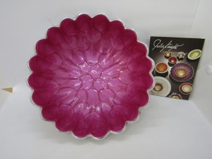 Silver/Raspberry Enameled Decorative Bowl New In Box Other