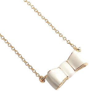 Kate Spade KATE SPADE Take A Bow White Pendant Necklace