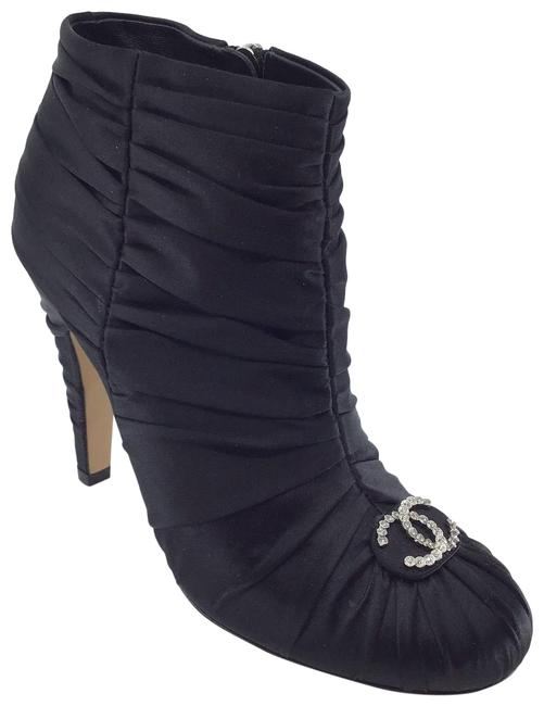 Item - Black Ruched Satin Boots/Booties Size US 6.5 Regular (M, B)