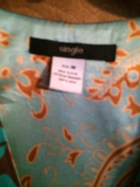 Single Top Gold , Brown , Turquoise, Mints