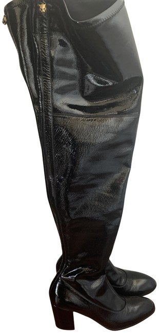 Item - Black Patent Leather Over The Knee Boots/Booties Size EU 37.5 (Approx. US 7.5) Regular (M, B)