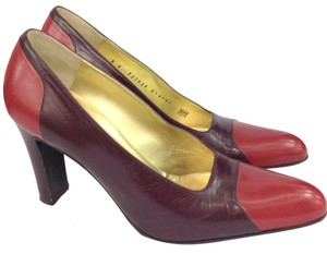 Bruno Magli Colorblock BURGUNDY/SPANISH ORANGE Pumps