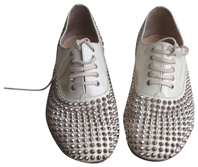 Item - White Fred Spike Flats Size EU 40 (Approx. US 10) Regular (M, B)