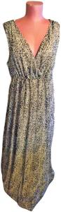 Leopard Gold Stripe Maxi Dress by NY Collection