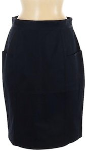 Adam Lippes Pencil Designer Skirt Black