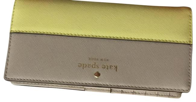 Item - Beige and Yellow Long Wallet
