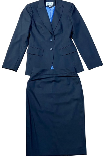 Austin Reed Navy London Skirt Suit Size 2 Xs Tradesy