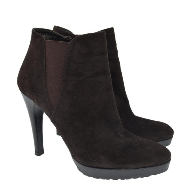 Item - Brown Suede Leather Zip Up Fashion Women's Boots/Booties Size US 8 Regular (M, B)