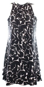 MSK Womens Sequin Ruffled Dress
