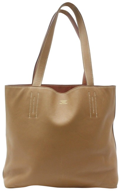 Item - Double Sens 872343 38 Brown Clemence Leather Tote