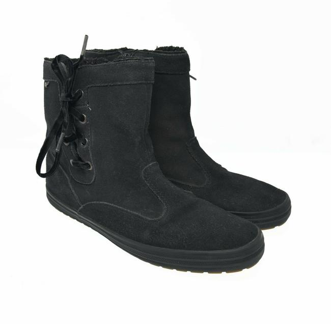 Item - Black Women's 9m Eu 40 Zip Up Lace Up Faux Fur Comfort Ankle B Boots/Booties Size US 9 Regular (M, B)