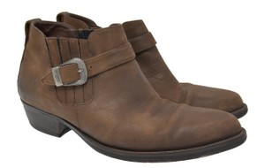 Florsheim Leather Stretch Chelsea Brown Boots