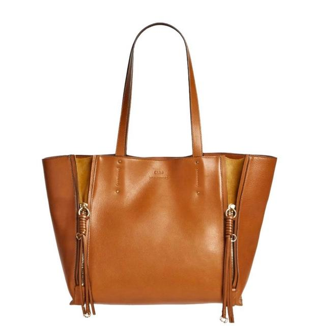 Chloé Milo Caramel Leather and Suede Tote Chloé Milo Caramel Leather and Suede Tote Image 1