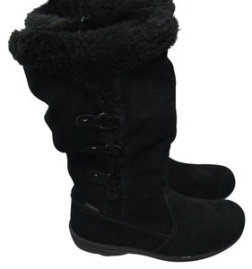 Khombu Suede Leather Ankle Black Boots