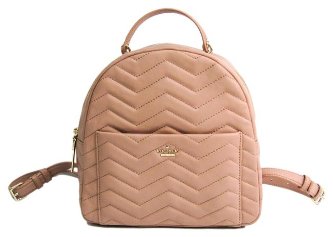 Item - Park Quilting Pxru9221 Women's Beige Pink Leather Backpack
