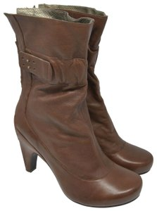 Tsubo Fashion Heel Ankle Brown Boots