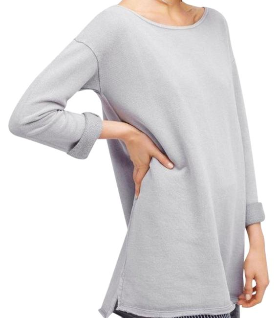 Item - Gray Stay Here Tunic New Light Long Sleeve High Low Short Casual Dress Size 6 (S)
