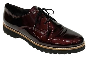 gabor Patent Leather Comfortable Burgundy Flats