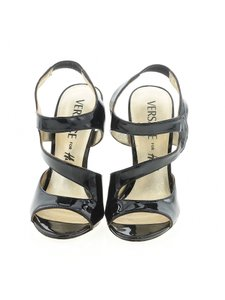 Versace for H&M Patent Strappy Gold Leather Black Sandals