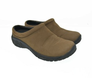 Merrell Cushion Suede Leather Brown Mules