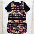 Lovers + Friends Black Floral Striped Shift Short Night Out Dress Size 6 (S) Lovers + Friends Black Floral Striped Shift Short Night Out Dress Size 6 (S) Image 5