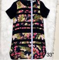 Lovers + Friends Black Floral Striped Shift Short Night Out Dress Size 6 (S) Lovers + Friends Black Floral Striped Shift Short Night Out Dress Size 6 (S) Image 10