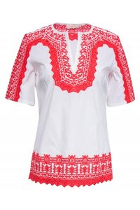 Tory Burch Shirts Embroidered Top white