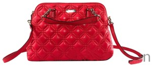 Kate Spade Quilted Leather Crossbody Satchel in Red