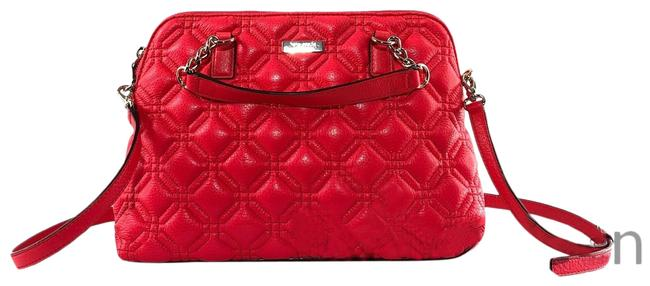 Item - Crossbody Small Rachelle Astor Court Red Quilted Leather Satchel