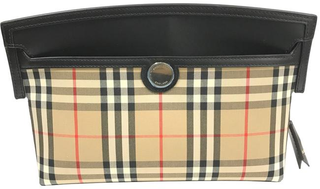 Item - Clutch Society Vintage Check In Brown Pattern Archive Beige Canvas Cross Body Bag